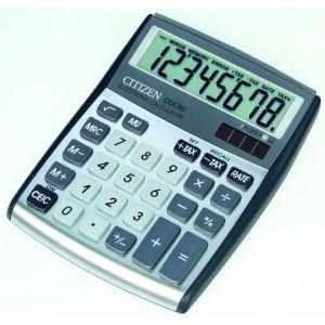 Citizen 72480-95 - Calculatrice de table, petit format CDC-80WB, coloris argenté