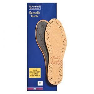 Saphir Semelles cuir sur charbon - taille 39 - Accessoire Chaussure