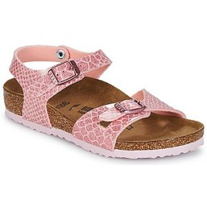 Birkenstock Rio, Sandales Bride Arriere Filles, Rose (Noir Magic Snake Rose Noir Magic Snake Rose), 34 EU