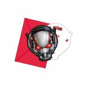 Procos 6 Cartons d'invitations + enveloppes Ant-Man 14 x 9 cm Taille Unique