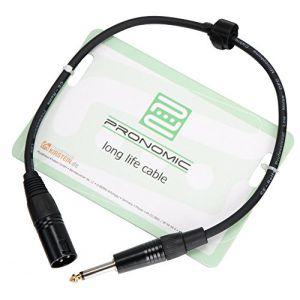 Pronomic Stage JMXM-0.5 câble audio jack mono/XLR 0,5 m noir