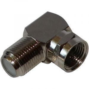 Aerzetix Connecteur prise adaptateur fiche F coudé d'angle 90° mâle-femelle câble coaxial tv télé satellite antenne
