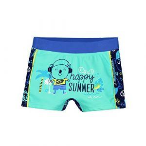 Petit Béguin Boxer de bain bébé garçon Happy Summer - Vert, Taille 12 mois (80 cm)