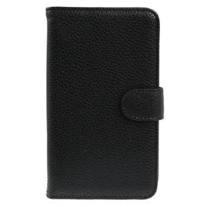 Novago 9220lizhiblack - Étui + support en simili cuir pour Galaxy Note GT-N7000