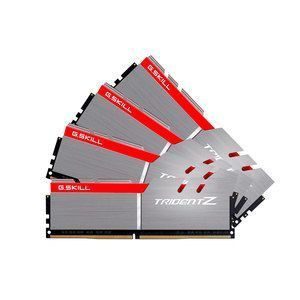 G.Skill Trident Z 64 Go (4x 16 Go) DDR4 3600 MHz CL17 Gris / Rouge
