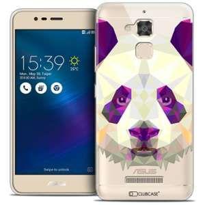 "Clubcase Coque Crystal Gel Asus Zenfone 3 Max ZC520TL (5.2"") Extra Fine Polygon Animals - Panda"