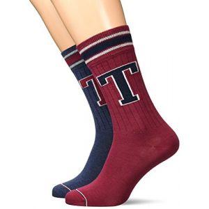Tommy Hilfiger Lot de deux paires de chaussettes basses plusieurs Multicolore - Taille 43-46