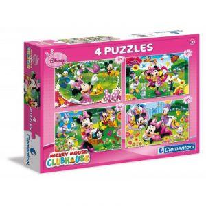 Clementoni Mickey Mouse & Friends - 4 puzzles 20 pièces