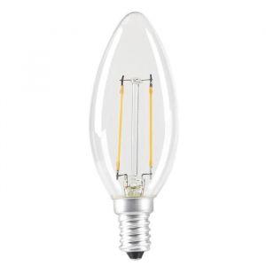 Expert Line Ampoule LED E14 SMD a filament 2 W équivalent a 24 W blanc chaud - Culot : E14 - 2 W équivalent à 24 W - 235 lm - 2700 K - Durée de vie : 25 000 h - Blanc chaud.