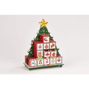 Christmas Dream Calendrier de l'avent forme Sapin (30 x 24 cm)