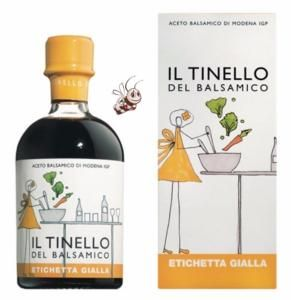 "Il Borgo del Balsamico Vinaigre Balsamique IGP étiquette Jaune Ligne ""Il Tinello"""