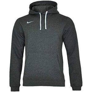Nike Club 19 Fleece Hoodie charcoal heather/anthracite/white (AR3239-071)