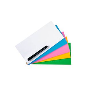 Legamaster Notes repositionnable Magic-Chart 10 x 20 cm couleurs assorties - Paquet de 250