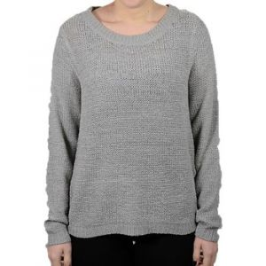 Only OnlGEENA XO L/S PULLOVER KNT NOOS - Pull - Uni - Manches Longues - Femme - Gris (Silver) - X-Large
