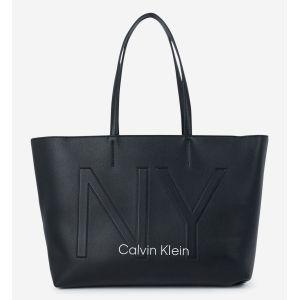 Calvin Klein Cabas Jeans MUST PSP20 MED SHOPPER NY Noir - Taille Unique