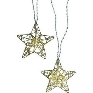 Polarlite 711680 - Guirlande lumineuse à motifs étoiles LED pour l'intérieur secteur blanc chaud 7.7 m