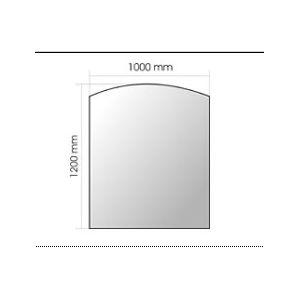 Invicta 6920-01 - Plaque en verre pour poêle à bois petite courbe