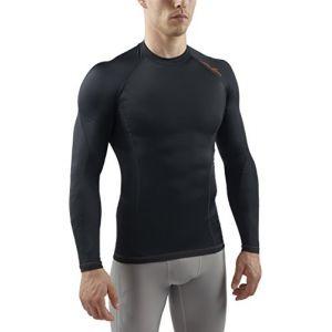 Sub Sports T-shirt de compression par niveaux pour homme RX, sous-vêtement fonctionnel couche de base à manches longues L Schwarz Stealth