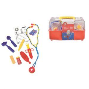 Simba Toys Mallette docteur enfant, couvercle transparent multicolore