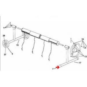 Procopi 1862110 - Bouchon en plastique Ø 40 mm pour enrouleur de bâche de piscine Aquaroll