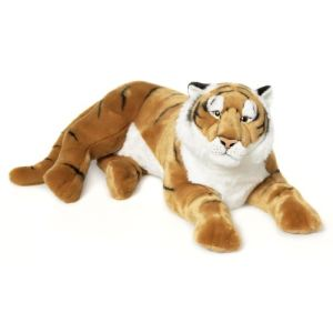 WWF Peluche Tigre brun couché 81 cm