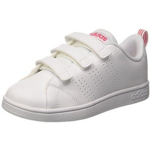Adidas VS ADVANTAGE CLEAN VLC - BLANC ROSE - enfant - CHAUSSURES BASSES