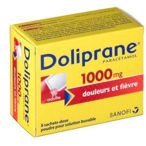 Sanofi Doliprane 1000 mg - 8 sachets (poudre)