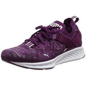 Puma Ignite Evoknit Lo, Multisport Outdoor Femme, Violet (Dark Purple-White-Black), 37 EU