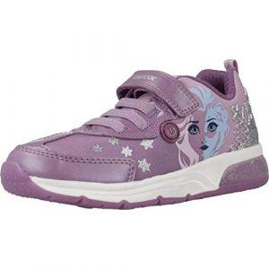 Geox Baskets basses enfant JR SPACECLUB GIRL Violet - Taille 24,25