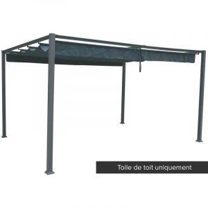 Hesperide Toile de toit pour tonnelle Palmeira 4 x 3 m couleur ardoise
