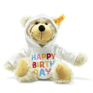 Steiff Charly Happy Birthday Ours fin Teddy avec pull à capuche, 23 cm