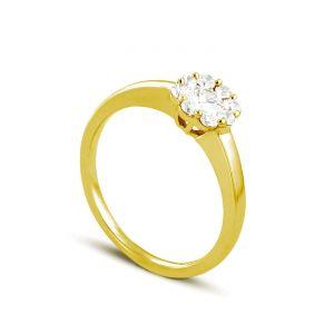 Image de Rêve de diamants 3612030094767 - Bague en or jaune sertie de diamants