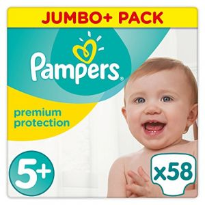 Pampers Premium Protection - Couches Taille 5+ (13-25 kg) - Jumbo+ Pack x58
