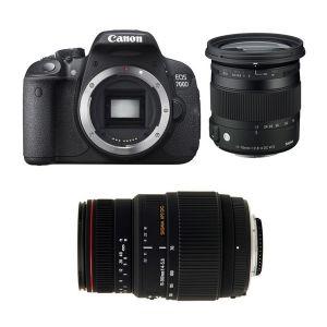 Canon EOS 700D (avec 2 objectifs Sigma 17-70mm et Sigma 70-300mm)