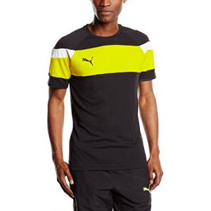 Puma 654655 37 Maillots Homme Noir/Cyber Yellow FR : L (Taille Fabricant : L)