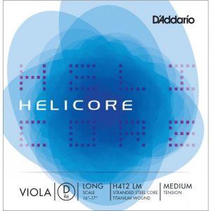 D'Addario Daddario Helicore Violon Alto Corde De Re Long Scale Medium/file