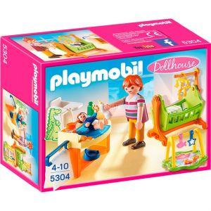 Playmobil 5304 Dollhouse - Chambre de bébé avec berceau