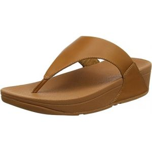 FitFlop Lulu Leather Toepost, Sandales Bout Ouvert Femme Brown (Caramel 098) 35.5 EU