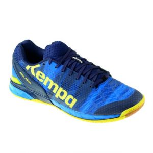 Kettler Kempa Attack One, Chaussures de Handball Homme, Bleu (Bleu Profond/Jaune Citron), 44 EU