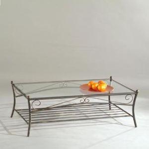 table basse reva en fer et verre
