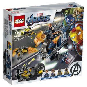 Lego Marvel Super HeroesTM - L'attaque du camion des Avengers, Jouet Marvel Enfant 7 Ans Et Plus, 477 Pièces - 76143