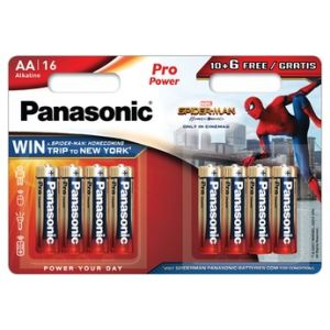 Panasonic Pile Spiderman 10+6 AA