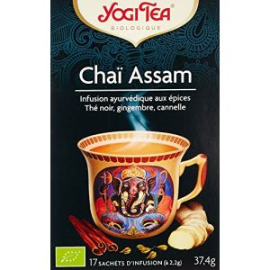 Yogi Tea Thé Noir Chaï Assam 17 sachets
