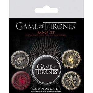 Pyramid International Game of Thrones Les Quatre Maisons Badge, Multicolore, 10 x 12.5 x 1.3 cm