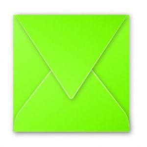 Clairefontaine 12021C - Enveloppe Pollen 120x120, 120 g/m², coloris vert menthe, en paquet cellophané de 20