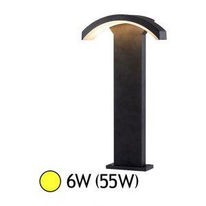 Vision-El Potelet curviligne LED 6W (55W) IP54 Blanc chaud 3000°K Anthracite