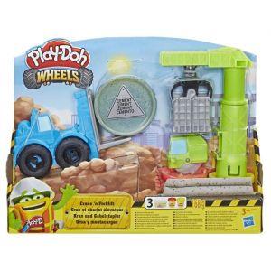 Play-Doh Pate A Modeler Wheels - Coffret Grue et Chariot Elevateur