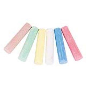 Toys Pure Boite de 6 craies de couleurs pour ardoise ou extérieur