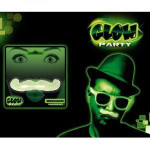 Moustache phosphorescente Taille Unique