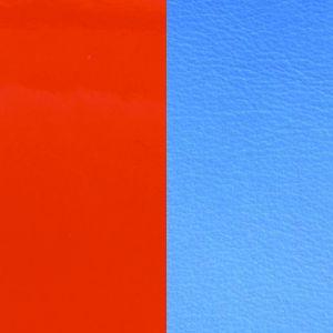 Les Georgettes Cuir Boucles D'Oreilles - Vinyle Orange Bleu Femme